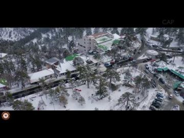 Troodos Snowday by drone